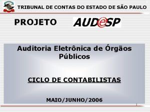 X TRIBUNAL DE CONTAS DO ESTADO DE SO
