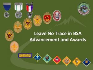 Leave No Trace in BSA Advancement and Awards