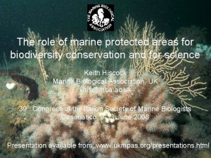 The role of marine protected areas for biodiversity