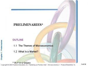 Chapter 1 Preliminaries PRELIMINARIES OUTLINE 1 1 Themes
