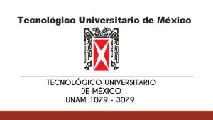 Tecnolgico Universitario de Mxico Equipo 1 PROFESOR ASIGNATURA