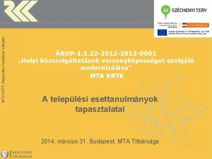 MTA KRTK Regionlis Kutatsok Intzete ROP1 1 22