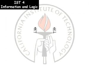 IST 4 Information and Logic Office hours moved