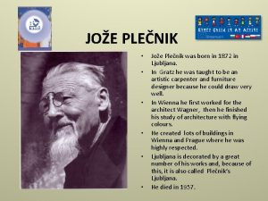 JOE PLENIK Joe Plenik was born in 1872