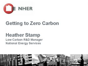Getting to Zero Carbon Heather Stamp Low Carbon