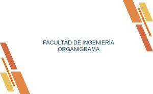 FACULTAD DE INGENIERA ORGANIGRAMA Introduccin El presente organigrama