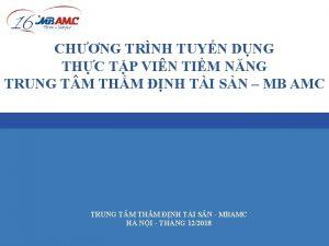 CHNG TRNH TUYN DNG THC TP VIN TIM