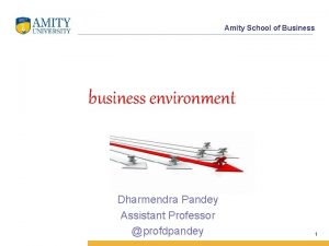 Amity School of Business business environment Dharmendra Pandey