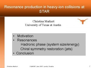 Resonance production in heavyion collisions at STAR Christina