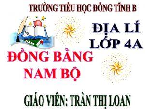 Ch v tr ng bng Nam B trn