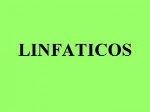 LINFATICOS COMO SE CLASIFICAN LOS ORGANOS LINFATICOS CLASIFICACION