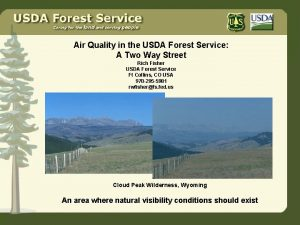 Air Quality in the USDA Forest Service A