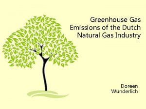 Greenhouse Gas Emissions of the Dutch Natural Gas