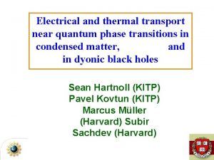 Electrical and thermal transport near quantum phase transitions