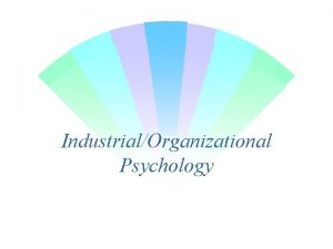 IndustrialOrganizational Psychology The ScientistPractitioner Model Scientist Practitioner The