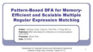 PatternBased DFA for Memory Efficient and Scalable Multiple