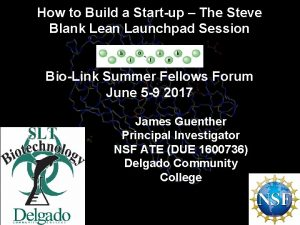 How to Build a Startup The Steve Blank