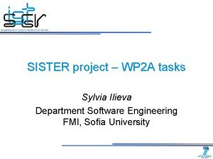 Strengthening the IST Research Capacity of Sofia University