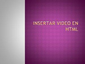 La etiqueta video ofrece una solucin alternativa para