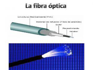 La fibra ptica Historia La fibra ptica es