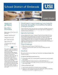 School District of Elmbrook CASE STUDY District plan