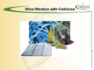 Wine filtration with Cellulose Wine filtration with cellulose