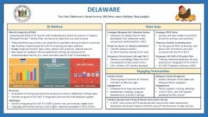 DELAWARE Fun Fact Delaware is home to over