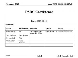 November 2013 doc IEEE 802 11 131327 r