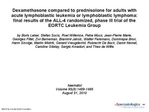 Dexamethasone compared to prednisolone for adults with acute