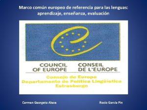 Marco comn europeo de referencia para las lenguas