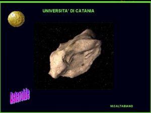 UNIVERSITA DI CATANIA M CALTABIANO UNIVERSITA DEGLI STUDI
