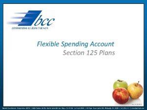Flexible Spending Account Section 125 Plans rev 10