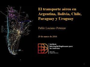 El transporte areo en Argentina Bolivia Chile Paraguay