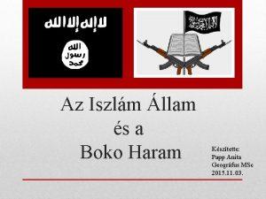 Az Iszlm llam s a Boko Haram Ksztette