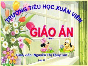 Tun 9 Gio vin Nguyn Th Thy Lan