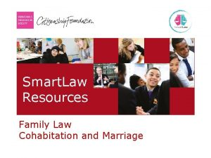 Smart Law Resources Family Law Cohabitation and Marriage