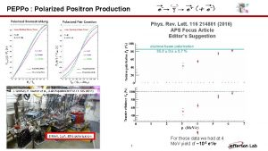 PEPPo Polarized Positron Production Phys Rev Lett 116
