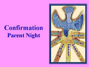 Confirmation Parent Night Prayer for parents Most loving