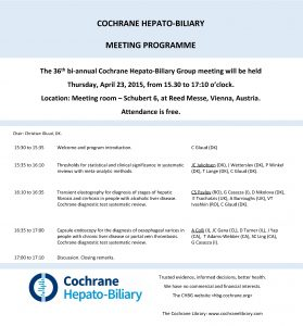 COCHRANE HEPATOBILIARY MEETING PROGRAMME The th 36 biannual