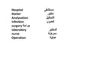 Hospital Departments Medical Departments Internal Diseases Surgery Transportation
