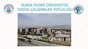 BURSA TEKNK NVERSTES SOSYAL ALIMALAR TOPLULUU TPLK Logo