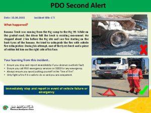 PDO Second Alert Date 16 09 2016 Incident