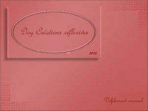 Day Crations rflexives 2013 Dfilement manuel Chaque anne