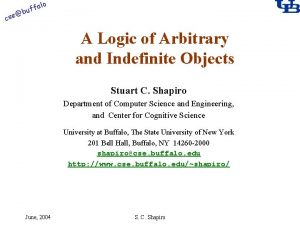 alo cse f buf A Logic of Arbitrary