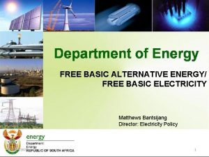 FREE BASIC ALTERNATIVE ENERGY FREE BASIC ELECTRICITY Matthews