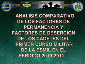 ANALISIS COMPARATIVO DE LOS FACTORES DE PERMANENCIA Y