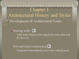 Chapter 1 Architectural History and Styles Development of