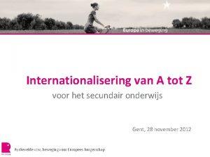 Internationalisering van A tot Z voor het secundair