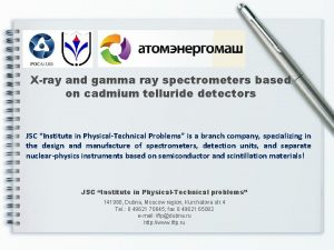 Xray and gamma ray spectrometers based on cadmium
