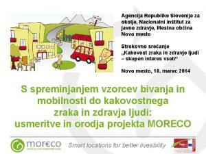 Agencija Republike Slovenije za okolje Nacionalni intitut za